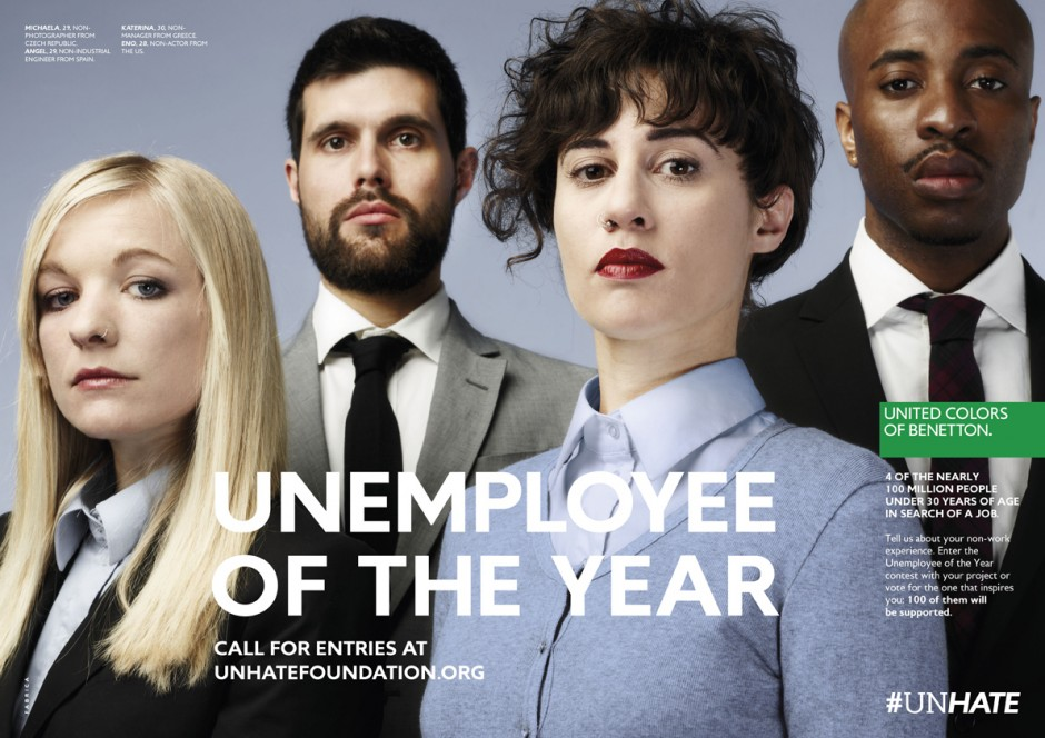 BENETTON NEW CAMPAIGN : UNEMPLOYEE OF THE YEAR